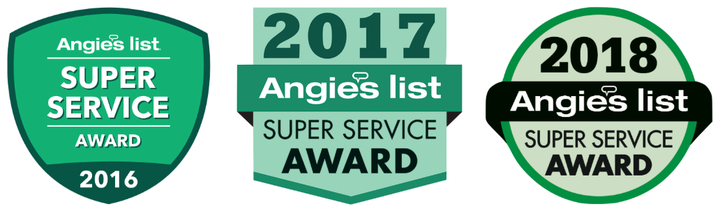 Angie's List Super Service Award 2016, 2017, 2018 - Water Damage Cleanup in JAARS, NC (9962)